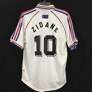 France Soccer Football Jersey 1998 Zidane M